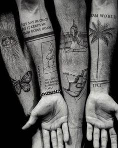 125 Best Sleeve Tattoos For Men - Tattoos - Cool Full Arm Sleeve Tattoo Ideas For Guys - Best Sleeve Tattoos For Men: Cool Full Sleeve Tattoo Ideas and Designs - Black Ink Tattoos, Mini Tattoos, Small Tattoos, Cool Tattoos, Tattoos Arm Mann, Forearm Tattoos, Thigh Tattoo Men, Arm Tats, Arm Tattoos For Guys