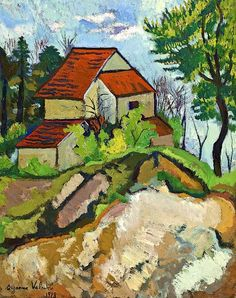 View Le chemin creux by Suzanne Valadon on artnet. Browse upcoming and past auction lots by Suzanne Valadon. Renoir, Urban Landscape, Landscape Art, Landscape Paintings, Landscapes, Henri De Toulouse Lautrec, Maurice Utrillo, Postmodern Art, Suzanne
