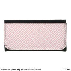 Blush Pink Greek Key Pattern Wallet