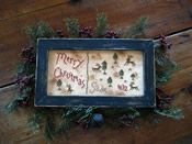 Sadie's Christmas Falling Stars, Primitives, My Design, Cross Stitch, Frame, Christmas, Home Decor, Shooting Stars, Picture Frame