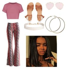 Booty Callin'✨ by aubryanna-brown on Polyvore featuring polyvore, fashion, style, Fashionomics, Ancient Greek Sandals, Humble Chic and clothing