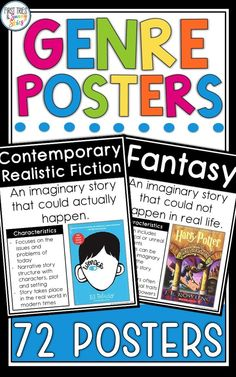 Literary Genre Posters – Enrich your reading and writing instruction with this set of 72 genre. Middle School Activities, Education Middle School, Middle School Libraries, Middle School Reading, Elementary Library, Middle School Classroom, Writing Activities, School Resources, Upper Elementary