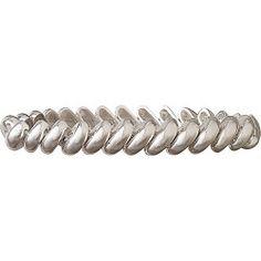 Anne Klein Thin Silver Tone Link Stretch Bracelet-One Size,SILVER TONE