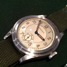 Longines 12.68zn Military Stepcase Twotone dial