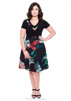 5b8f1ec3b4 SUKIENKA PLUS SIZE DANZA - Vittoria Giovani - Sukienki dla Puszystych –  Sukienki Duże Rozmiary – Sukienki XXL