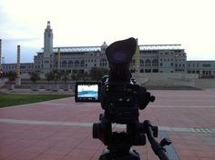 Últimos detalles de la producción de la Anella Olímpica #Bcn #Barcelona #OneProduccions