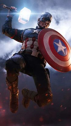 Captain America Mjolnir Hammer Shield Avengers Endgame 4k Hd Mobile And Desktop Wallpaper Captain America Wallpaper Marvel Comics Wallpaper Marvel Heroes