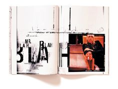 Blah Blah Blah magazine spread ~Chris Ashworth | #layout #editorial #design