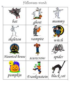 Put this word mat out in your writing area or use to support children writing Halloween sentences, stories or poems.