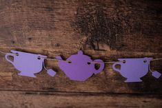 Tea Pot Garland - {COLOUR CUSTOMIZABLE}- Party Decor, Room Decor, Tea Party, Alice in Wonderland, Tea for Two, Tea Time by CutPartySupplies on Etsy Paper Garlands, Tea Party Decorations, Decor Room, Alice In Wonderland, Tea Time, Tea Pots, Birthday Ideas, Colours, Kid