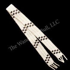 Wampum Belt - 3 Row Glass - 31 inch