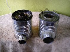 Two rocket stoves.