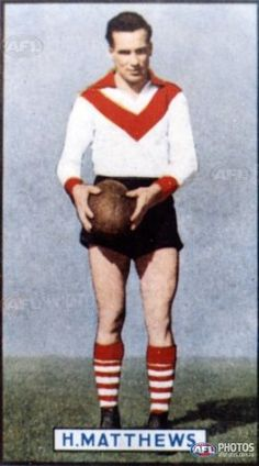 Undated photo of South Melbourne legend and 1940 Brownlow Medal Winner Herbie Matthews - AFL Photos - Galleries - AFL Photo Galleries