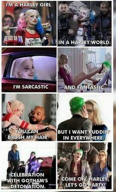 "Sing it to the tune of ""I'm A Barbie Girl"" and it's hilarious. Harley Quinn and The Joker, Suicide Squad (2016)."