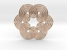 0555 Motion Of Points Around Circle (5cm) #032 by KOSEKOMA Wicker, 3d Printing, Prints, Stuff To Buy, Geometry, World, Impression 3d, Loom