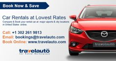 Compare and book your car rentalat major airports & city locations in United States online.Book now and get ultimate discounts at rates on car hire services.