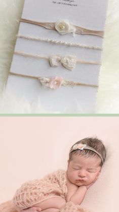 In case it's a girl? Headband Tutorial, Diy Headband, Newborn Headbands, Newborn Photography Props, Newborn Photo Props, Newborn Photos, Baby Outfits, Newborn Tieback, Foto Baby