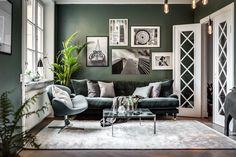 Home - Room & Bedrooms Decor Ideas Green Rooms, Decor, Living Room Inspiration, Living Room Scandinavian, Living Room Green, Living Room Designs, Living Decor, Home Decor, House Interior