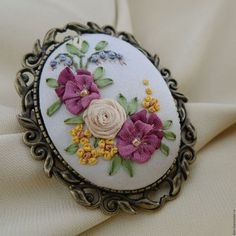 Brooch handmade.  Fair Masters - handmade.  Buy brooch with embroidery Sparkling…