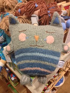 #handmade #cat #pillow by dille & kamille #craft idea for the home