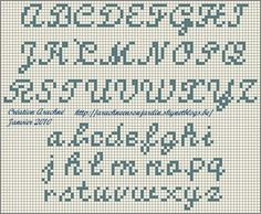 Monogram Cross Stitch, Tiny Cross Stitch, Free Cross Stitch Charts, Cross Stitch Alphabet, Cross Stitch Designs, Crochet Alphabet, Crochet Letters, Embroidery Alphabet, Small Alphabet Letters