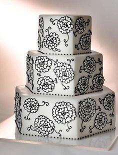 pink vintage look wedding cake | simple+wedding+cake+2011