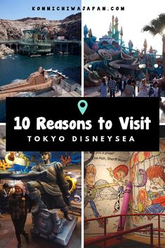 Tokyo Disney Sea is the only one in the world and makes it a truly unique theme park experience. These are my 10 Reasons to Visit Tokyo Disney Sea. Japan Travel Tips, Tokyo Travel, Tokyo Trip, Japan Trip, Tokyo 2020, Travel List, Visit Tokyo, Visit Japan, Tokyo Disney Sea