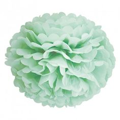 Pompom papier vert