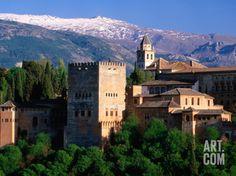 Alhambra Seen from Mirador San Nicolas in Albaicin District, Granada, Andalucia, Spain Photographic Print by David Tomlinson at Art.com
