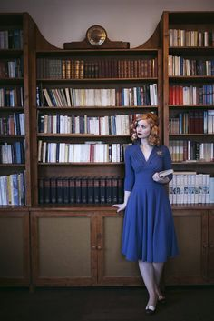 Beautiful 1940s fashion. Model: Vintagemaedchen by Victoria, Photo by Sophia Molek and Clothes by Miss Candyfloss. More on http://vintagemaedchen.de/1940s-fashion/. #Nostalgia #VintageStyle #40sStyle