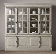 "i think this is the one we originally liked. did we want the 91""h or the 77""h?  the white is avail immediately at 91"" & 5/14 for 77"".  and the taupe is immediately avail at 77"" & 3/20 for 91"" French Casement Sideboard and Hutch"