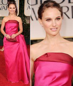 Natalie Portman pink Lanvin dress 2012 Golden Globes