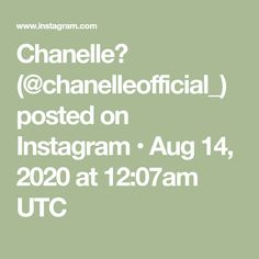 Chanelle🌹 (@chanelleofficial_) posted on Instagram • Aug 14, 2020 at 12:07am UTC