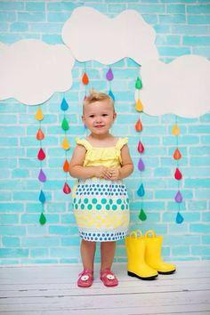 Kids, child photography. Rain themed mini session.