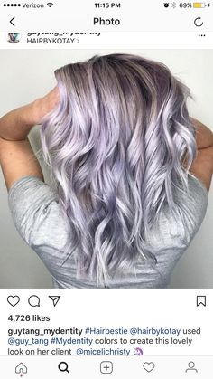 Colorful Dusty Lilac Hair London Lilac Hair Color Luxury Dusty Lavender Guy Tang Mydentity for Colorful Dusty Lilac Hair Hair Color Purple, Blonde Color, Hair Colors, Purple Ombre, Grey Blonde, Blonde Ombre, Blonde Hair With Purple Highlights, Lilac Grey Hair, Icy Blue Hair