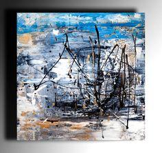 Abstracto pintura moderna abstracta pintura Original pintura espátula pintura arte Arte de la lona gruesa textura listo para colgar de la pared arte