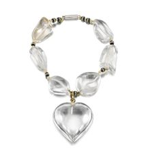 A Rock Crystal and Diamond Charm Bracelet, by Suzanne Belperron