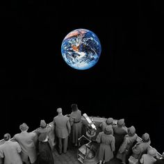 "One day we'll say, ""I wonder what life was like there... Earth..."" Madbutt collage artist"