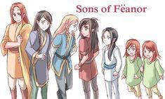 Sons of Feanor- Meadhros, Maglor, Celegorm, Caranthur, Curufin, Amrod, Amras.