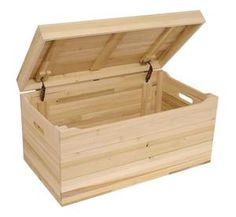 Amish Made Unfinished Poplar Toy Chest
