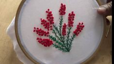 Hand Embroidery French knot Stitch Designs by Amma Arts - YouTube