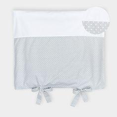 KraftKids Bezug für Wickeltischauflage weiße Punkte auf Grau