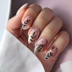 Minimalist Nails, Rose Nails, Flower Nails, Perfect Nails, Gorgeous Nails, May Nails, Hair And Nails, American Nails, Pointy Nails