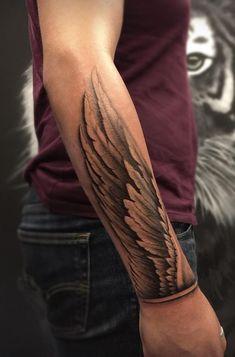 60 Amazing Tattoos by Tugberk Kirazlik 60 Tatuajes increíbles de Tugberk Kirazlik – TheTatt … Tattoos Arm Mann, Forarm Tattoos, Cool Forearm Tattoos, Cool Tattoos, Amazing Tattoos, Unique Tattoos, Tattos, Wing Tattoo Arm, Arm Band Tattoo