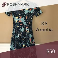 XS LuLaRoe Amelia XS LuLaRoe Amelia Worn & Wash One time No signs of wear LuLaRoe Dresses