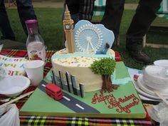 London landmarks bithday cake