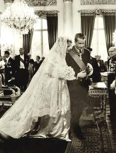 Donna Paola dei Principe di Ruffo di Calabria, later Queen of The Belgians; and H.R.H. Prince Albert of Liege, later King of The Belgians, Wedding  (1959)