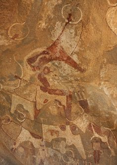 Laas Geel Rock Art Caves, Paintings Depicting Cows. Somaliland Laas Gaal's rock…