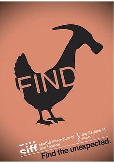 "WONGDOODY's Seattle International Film Festival ""Find"" posters"