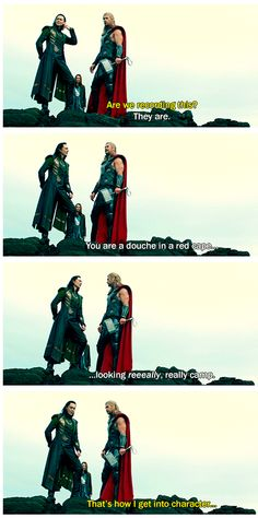 Tom and Chris moments in Thor: The Dark World gag reel
